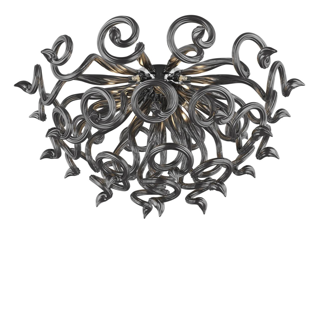 Люстра потолочная Medusa 9x40W G9 темно серый / серый Lightstar 890097