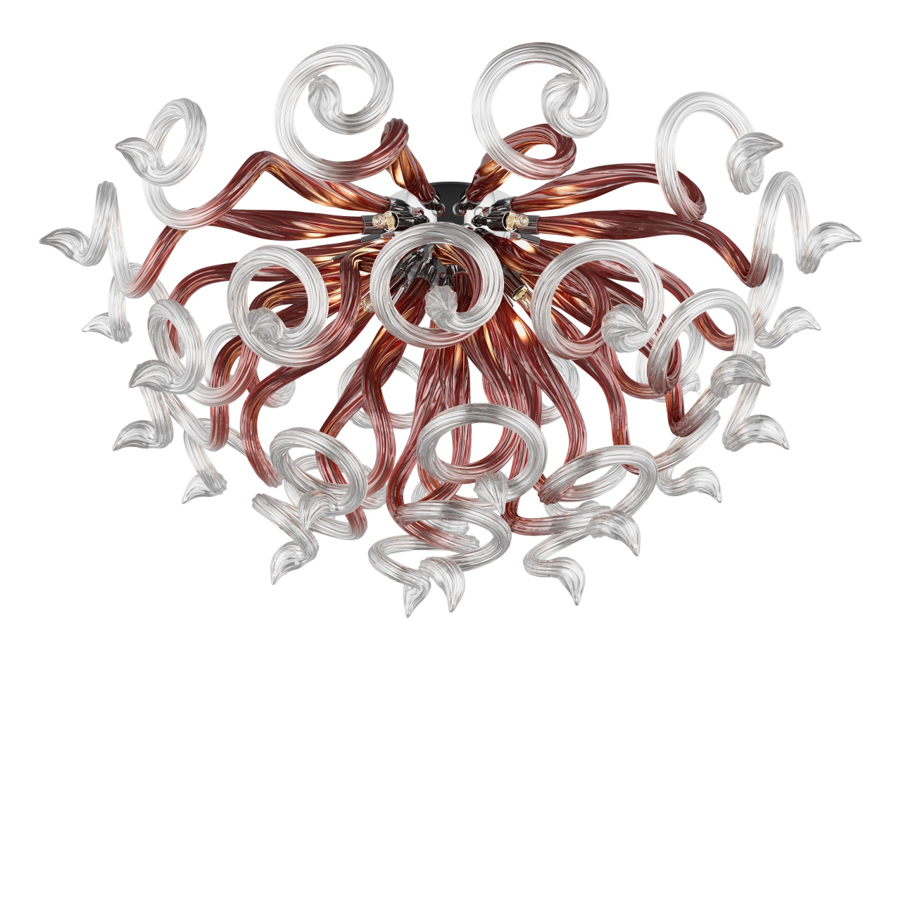 Люстра потолочная Medusa 9x40W G9 кофе прозрачный Lightstar 890098