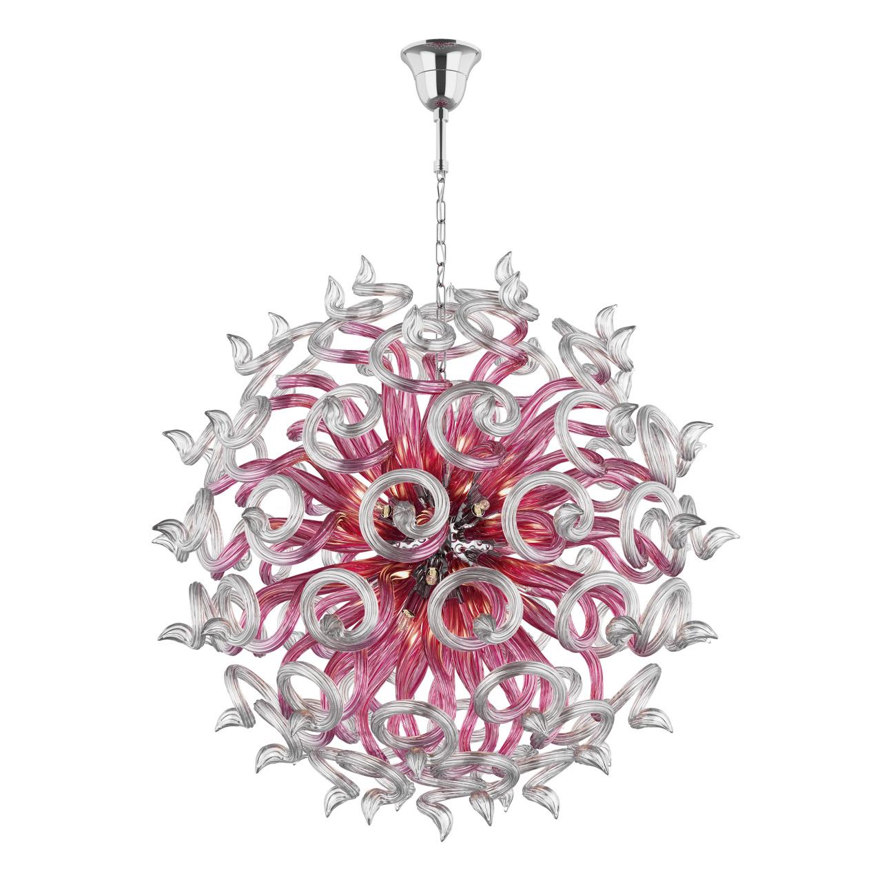 Люстра подвесная Medusa 18x40W G9 розовый Lightstar 890182