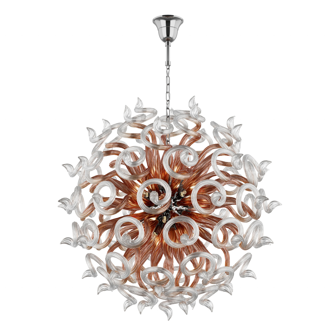 Люстра подвесная Medusa 18x40W G9 прозрачный / янтарь прозрачный Lightstar 890184