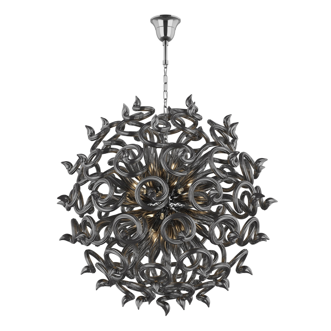 Люстра подвесная Medusa 18x40W G9 темно серый / серый Lightstar 890187