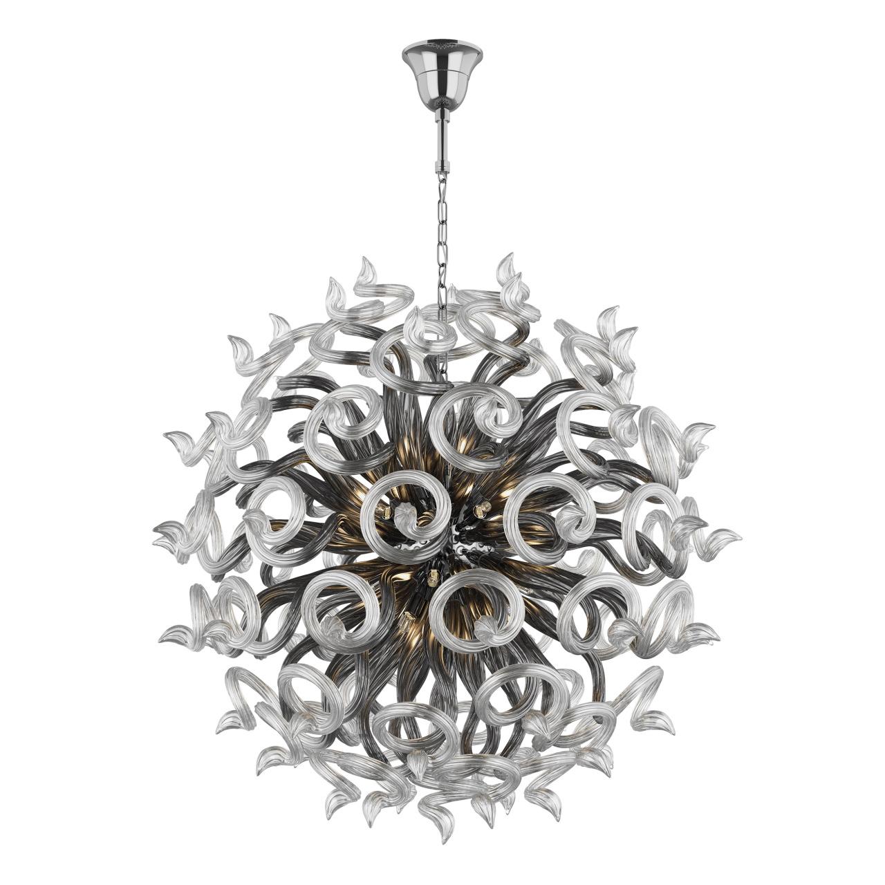 Люстра подвесная Medusa 18x40W G9 черный / прозрачный Lightstar 890189