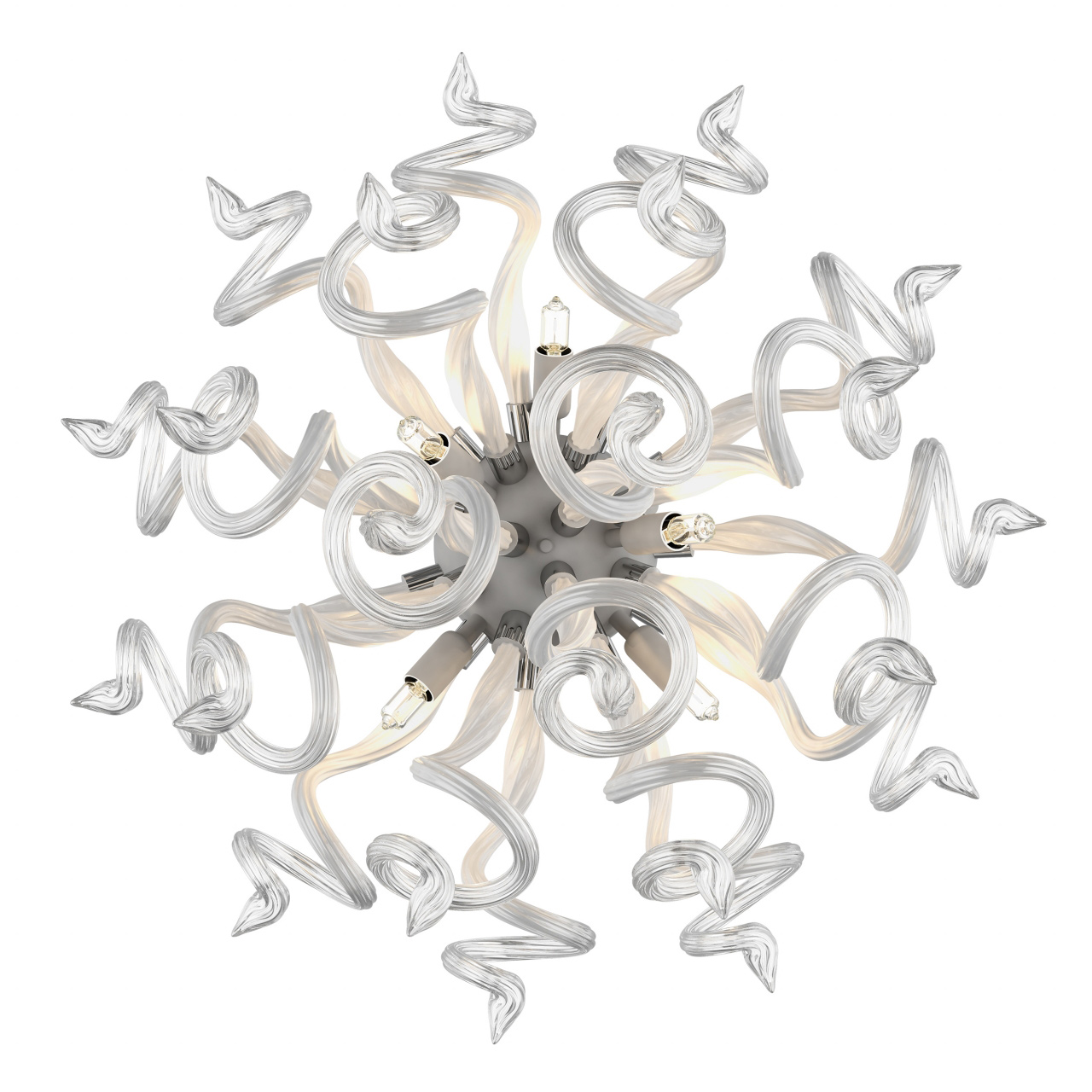Бра Medusa 5х40W G9 белый / прозрачный Lightstar 890650