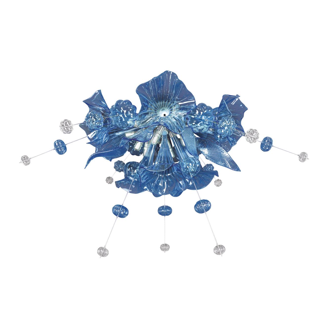 Люстра потолочная Celesta 12х6W (Led) G9 небесно голубой Lightstar 893021