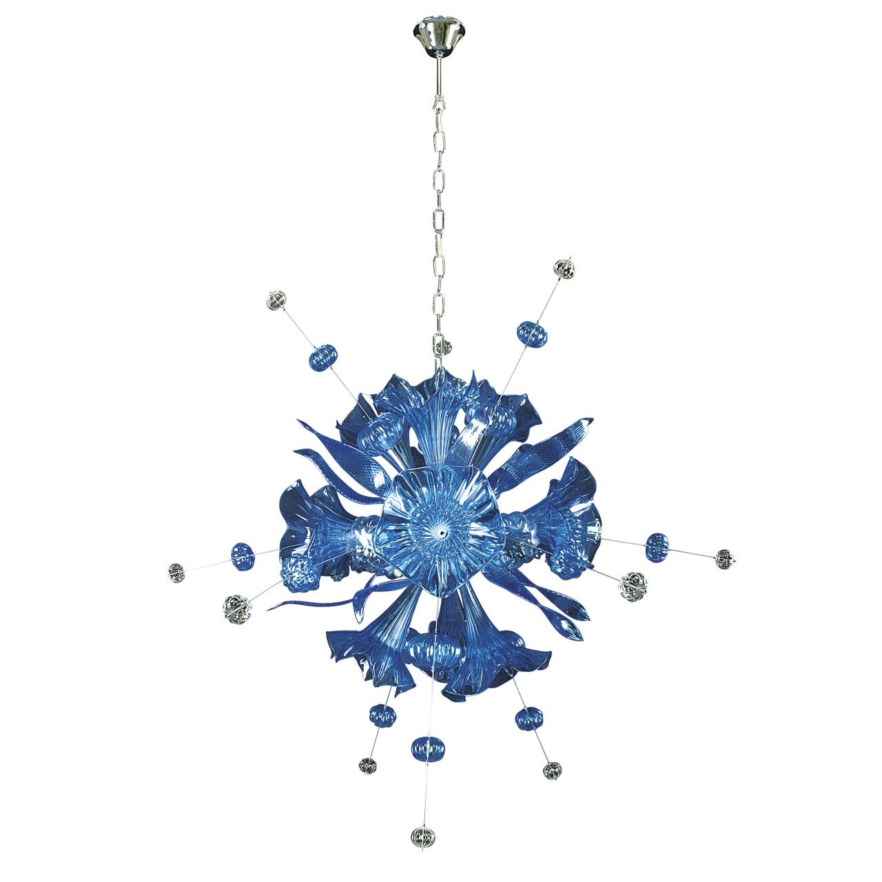 Люстра подвесная Celesta 12х6W (Led) G9 небесно голубой Lightstar 893121