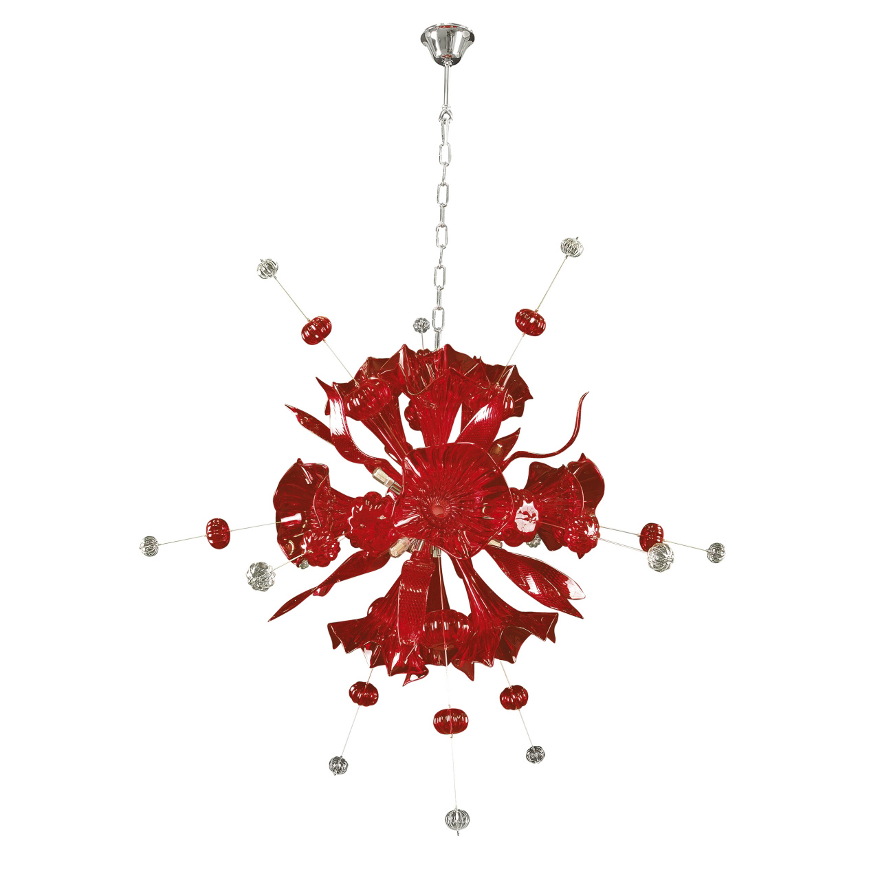 Люстра подвесная Celesta 12х6W (Led) G9 красный Lightstar 893122