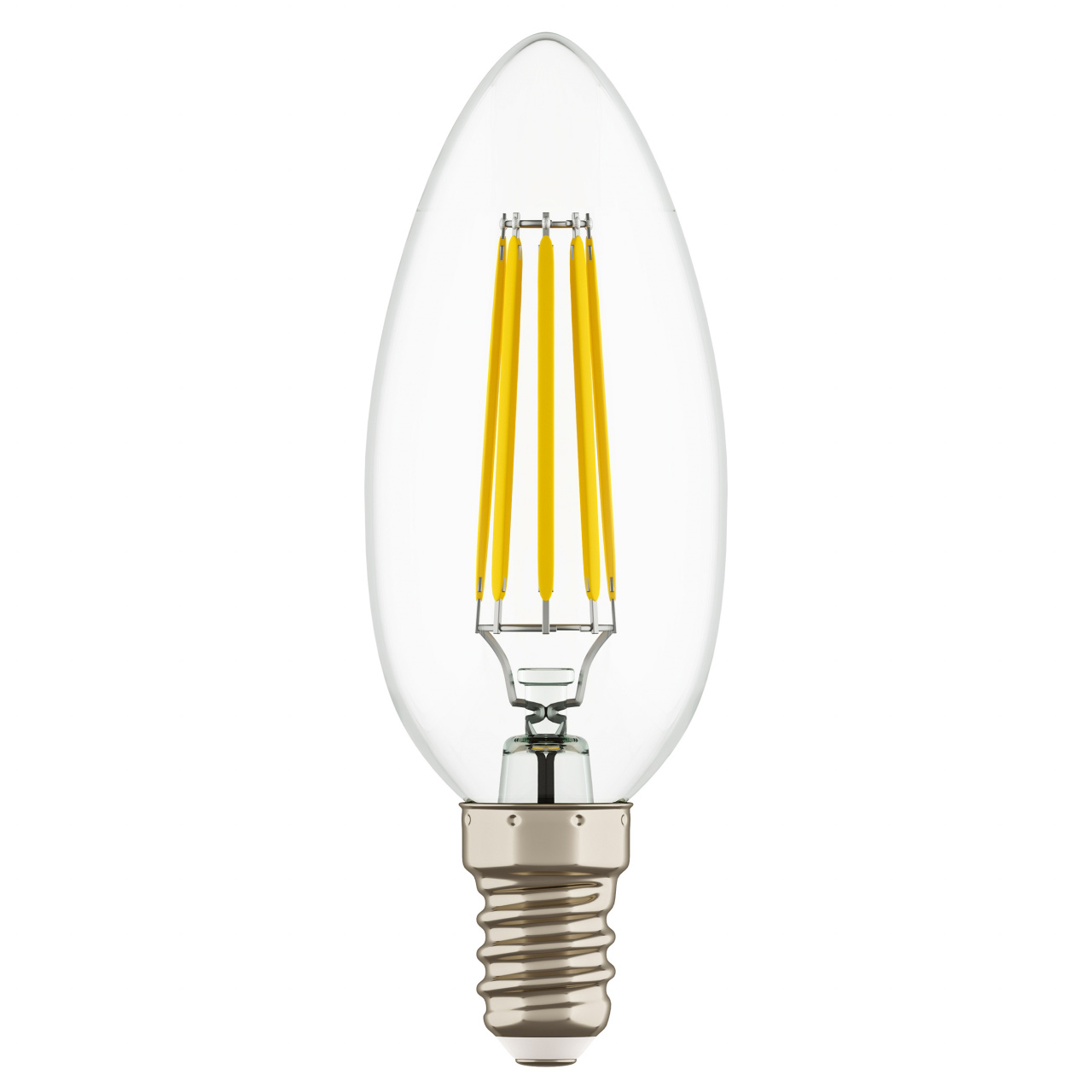 Лампа LED Filament 220V C35 E14 6W=65W 400-430LM 360G CL 4000K 30000H Lightstar 933504