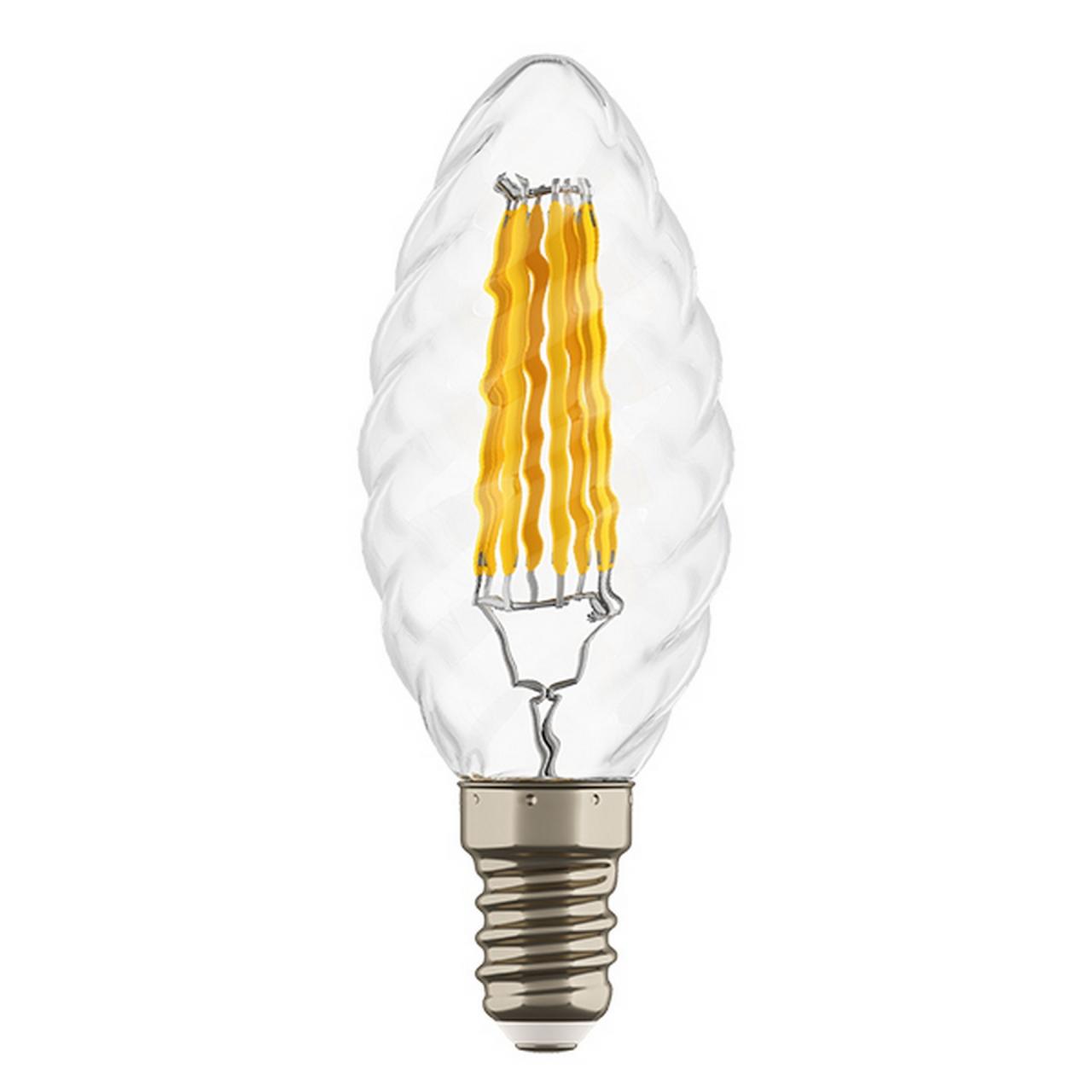 Светодиодная LED лампа FILAMENT 220V, E14, 6W - 4000K, Lightstar 933704