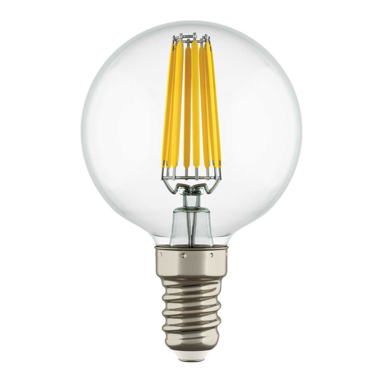 Лампа LED Filament 220V G50 E14 6W=65W 400-430LM 360G CL 4000K 30000H Lightstar 933804