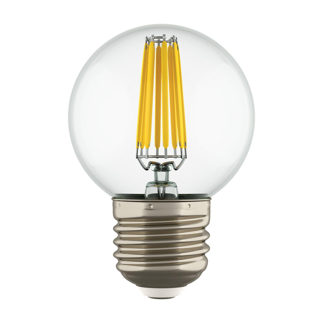 Лампа LED Filament 220V G50 E27 6W=65W 400-430LM 360G CL 3000K 30000H Lightstar 933822