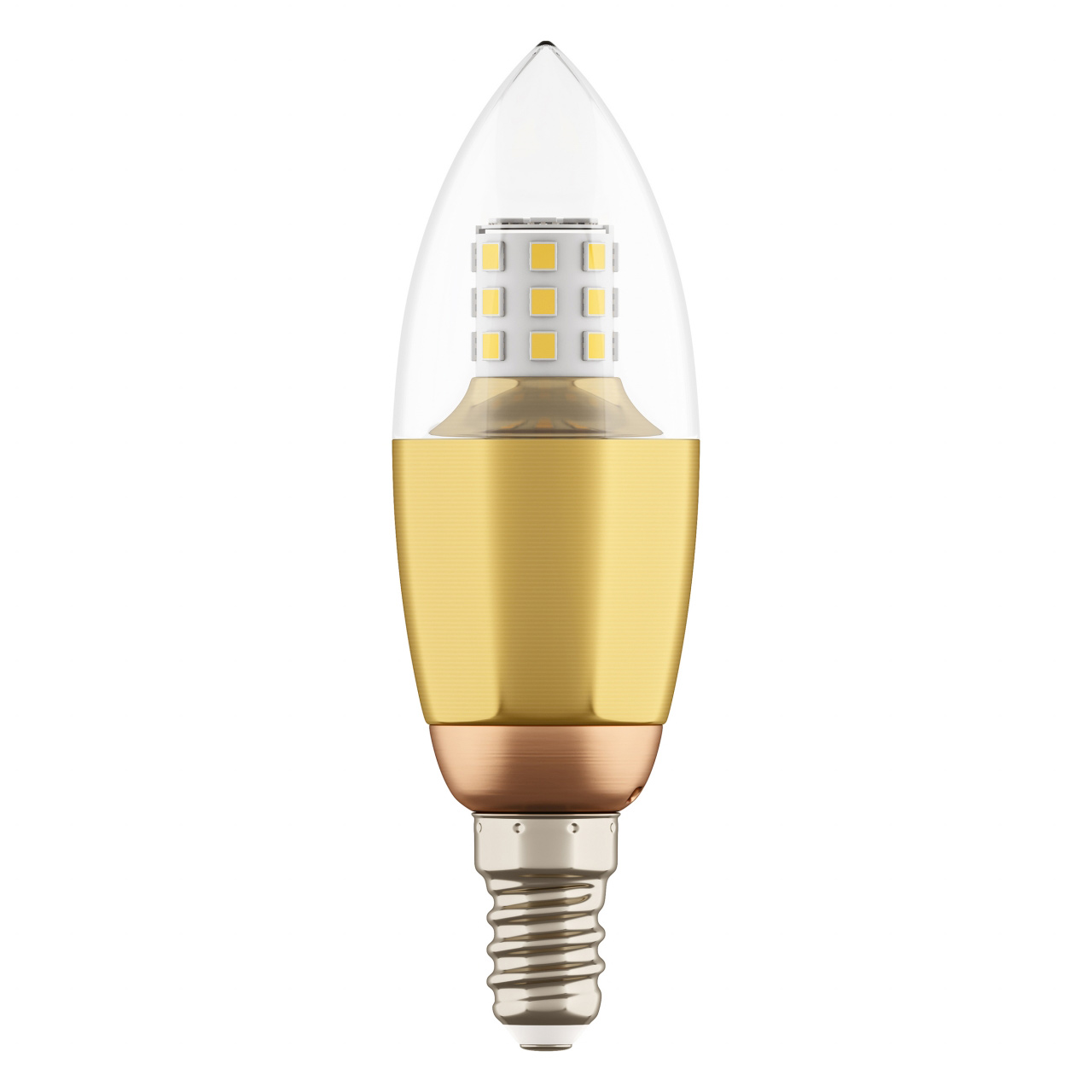 Лампа LED 220V C35 E14 7W=70W 460LM 60G CL/GD 3000K 20000H Lightstar 940522