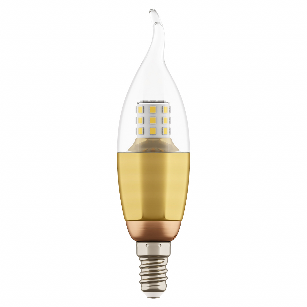 Лампа LED 220V CA35 E14 7W=70W 460LM 60G CL/GD 3000K 20000H Lightstar 940622
