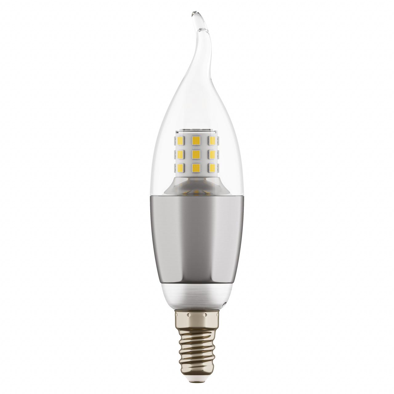 Лампа LED 220V CA35 E14 7W=70W 460LM 60G CL/CH 4000K 20000H Lightstar 940644