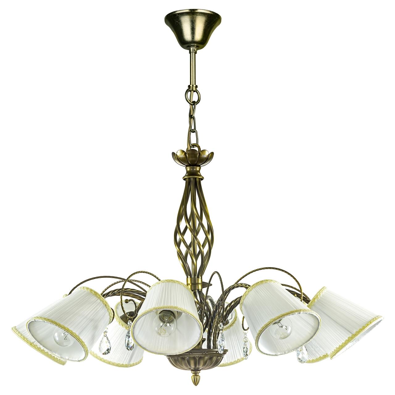 Люстра подвесная Esedra 8x40W E27 bronze ткань Lightstar 796181